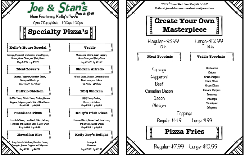 Joe and Stans Pizza